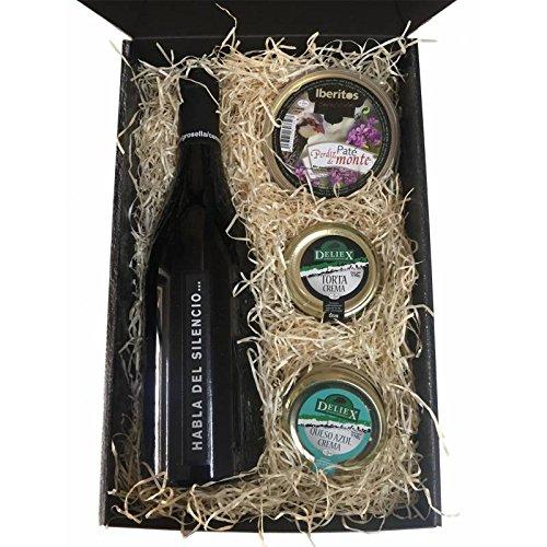 cesta de regalo Navidad en estuche con vinos y cremas de ...