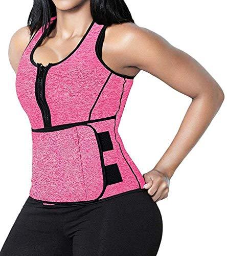 SHAPERX Women Neoprene Hot Sweat Sauna Suit Waist Trainer Vest Adjustable Waist Trimmer Belt Weight Loss Tank Top, ()