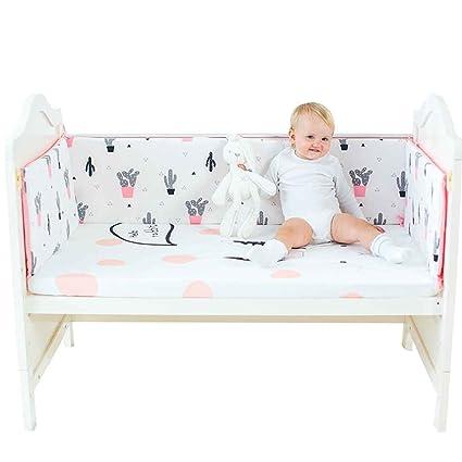 Babysbreath17 Cama Recién Nacido Patrón de Dibujos Animados Parachoques Cuna Protector de Cuna de bebé del Niño de la Guardia Cuna de Cama de Algodón ...