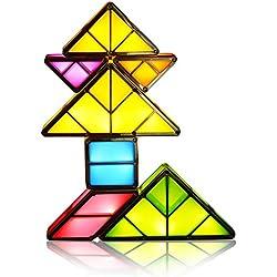 NextX Tangram LED Light Rechargeable Desk Lamp 3D Magnetic Toys Tetris Light Decorative Night Light Interlocking Light