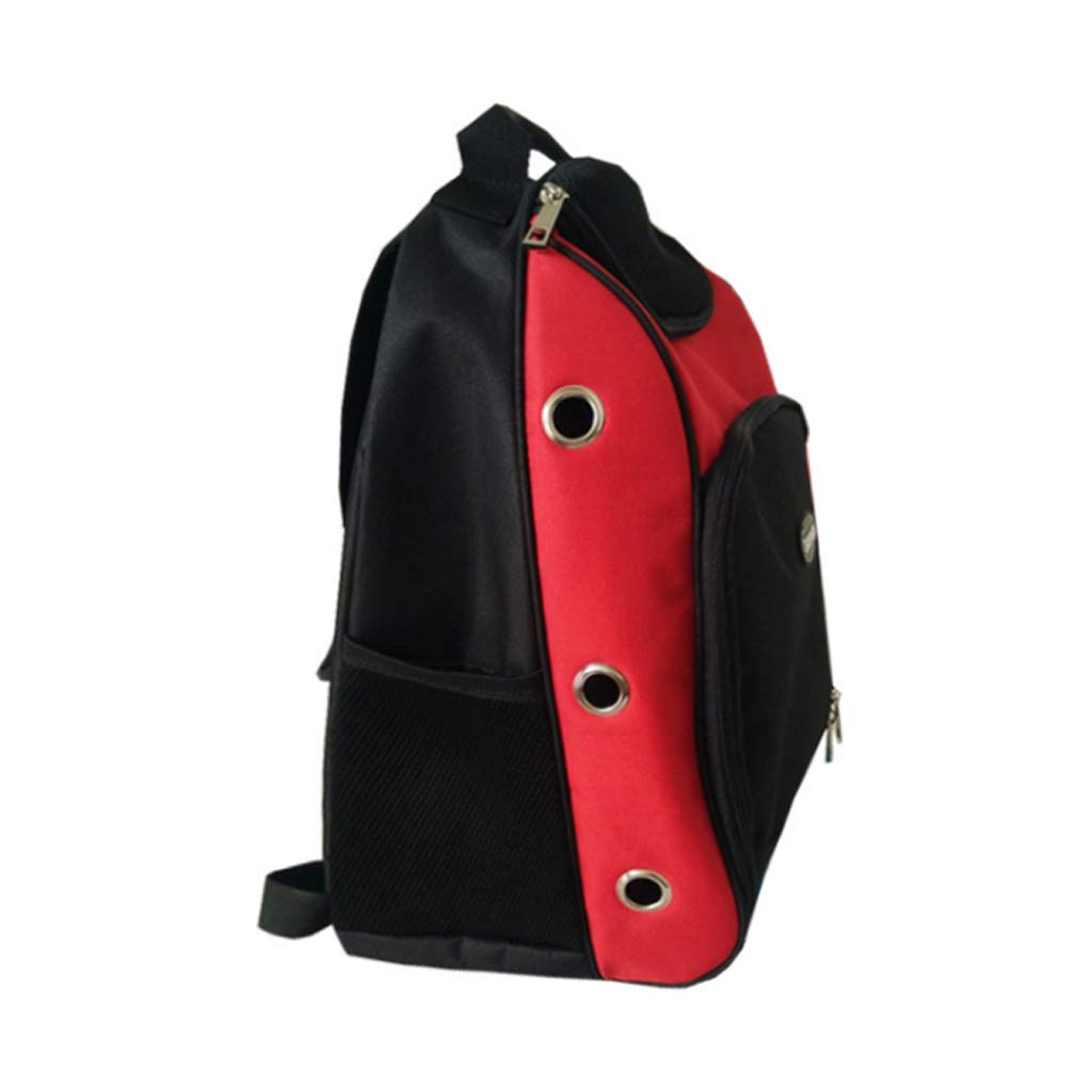 A GWM Pet Backpacks Pets Out Backpack Shoulders Carrying Case Dog Cat Bag 30  20  45cm (red, bluee) (color   A)