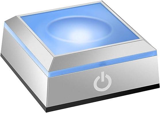 Base de luz LED Soporte esférico para empotrar esférico con Interruptor táctil Sensible para Arte en Vidrio de Cristal láser 3D: Amazon.es: Joyería