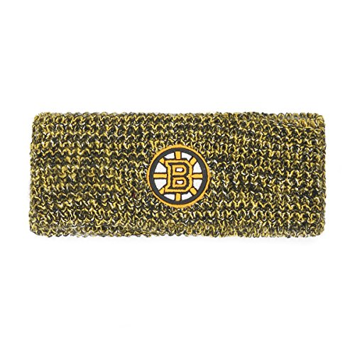(NHL Boston Bruins Women's Brilyn Ots Headband, Black)
