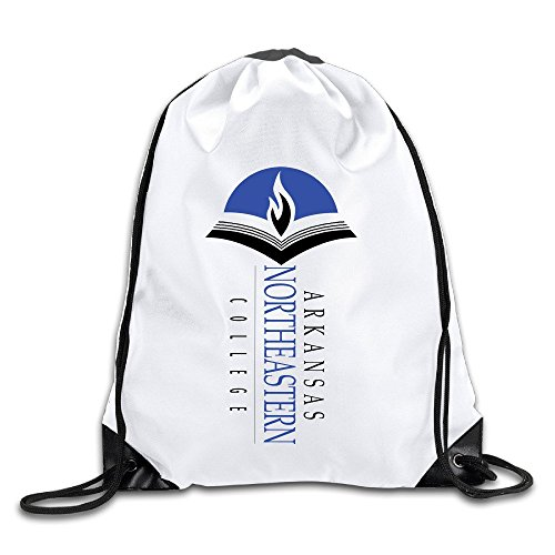 Arkansas Northeastern College Lightweight Drawstring Gift Bags Backpack White Size One Size (String Arkansas Pack)
