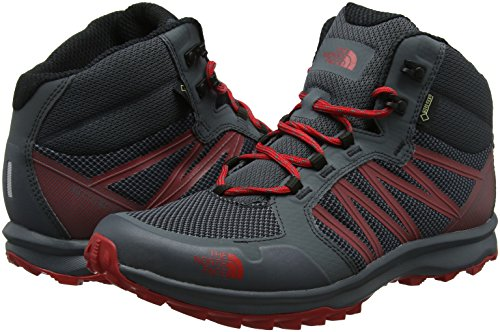 Gore Homme Grey Red North De Rise Mid Face turbulence Litewave tex The Tnf Bottes High Randonne Fastpack Gris ARq4zzw