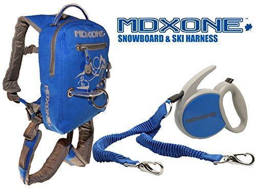 MDXONE Snowboard & Ski Harness with retractable leash (BLUE)