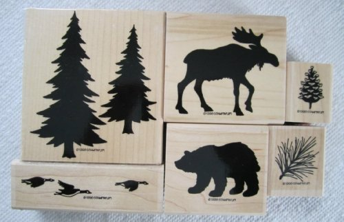 Stampin' Up Definitely Decorative Pines Rubber Stamp Set