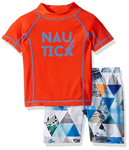 Nautica Toddler Boys' Rashguard Set with Upf
