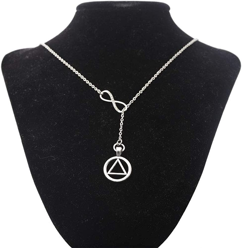 AKTAP AA Recovery Necklace Alcoholics Anonymous Gifts for Sober Sobriety Y Necklace Sobriety Gifts AA Recovery Jewelry