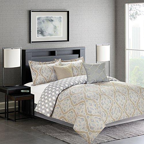 n 5 Piece Down Alternative Decorative Fashion Comforter Set, Queen, Natural/White, 5 (Fashion Comforter Set)