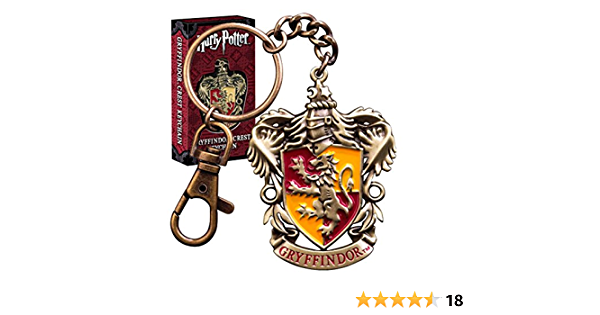 HARRY POTTER Oficial Hogwarts Gryffindor Crest Diecast Metal Llavero - En Caja