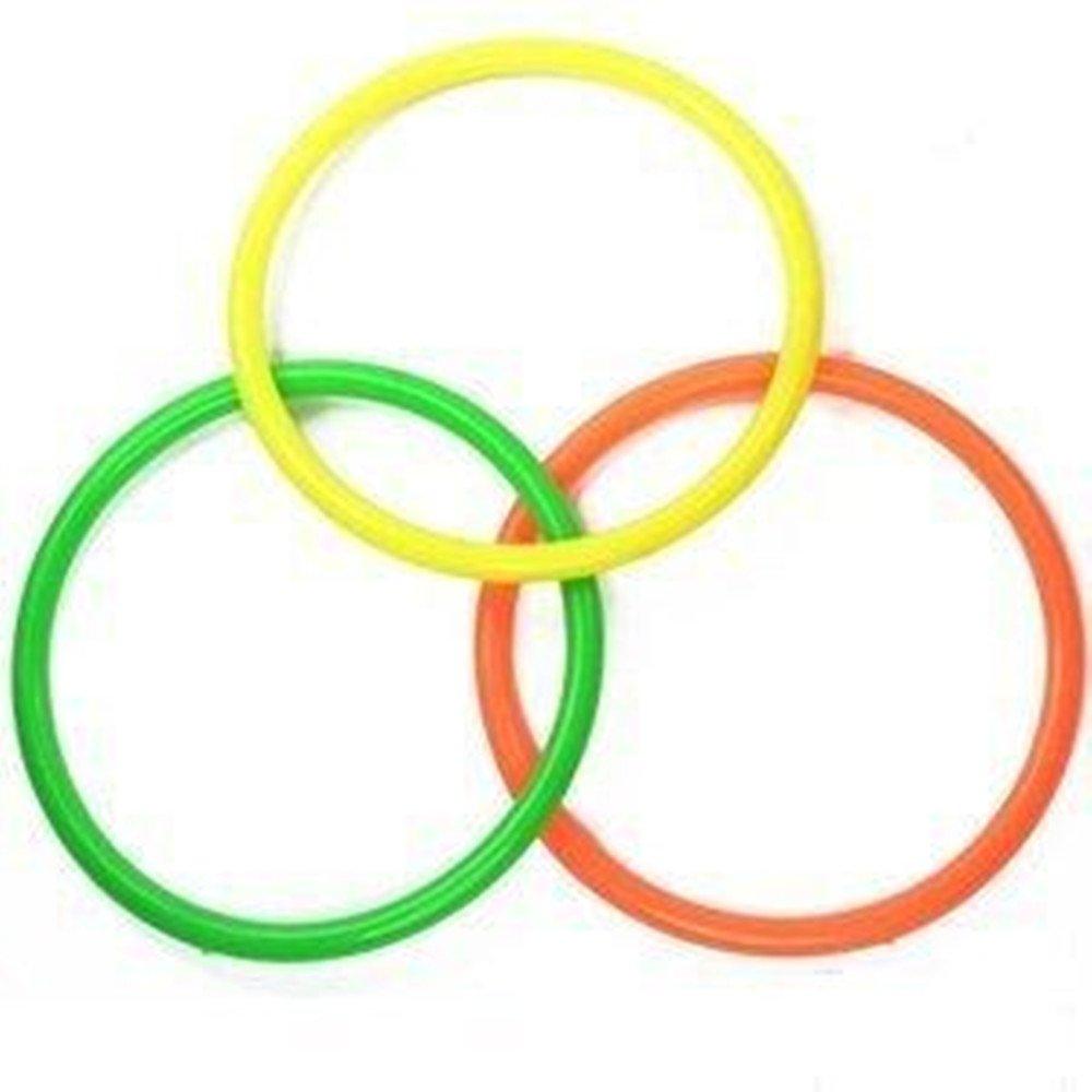 goodxy プラスチックトスリング 6個 スピード&アジリティ練習ゲーム用 3色ミックス B07HJBY2BQ