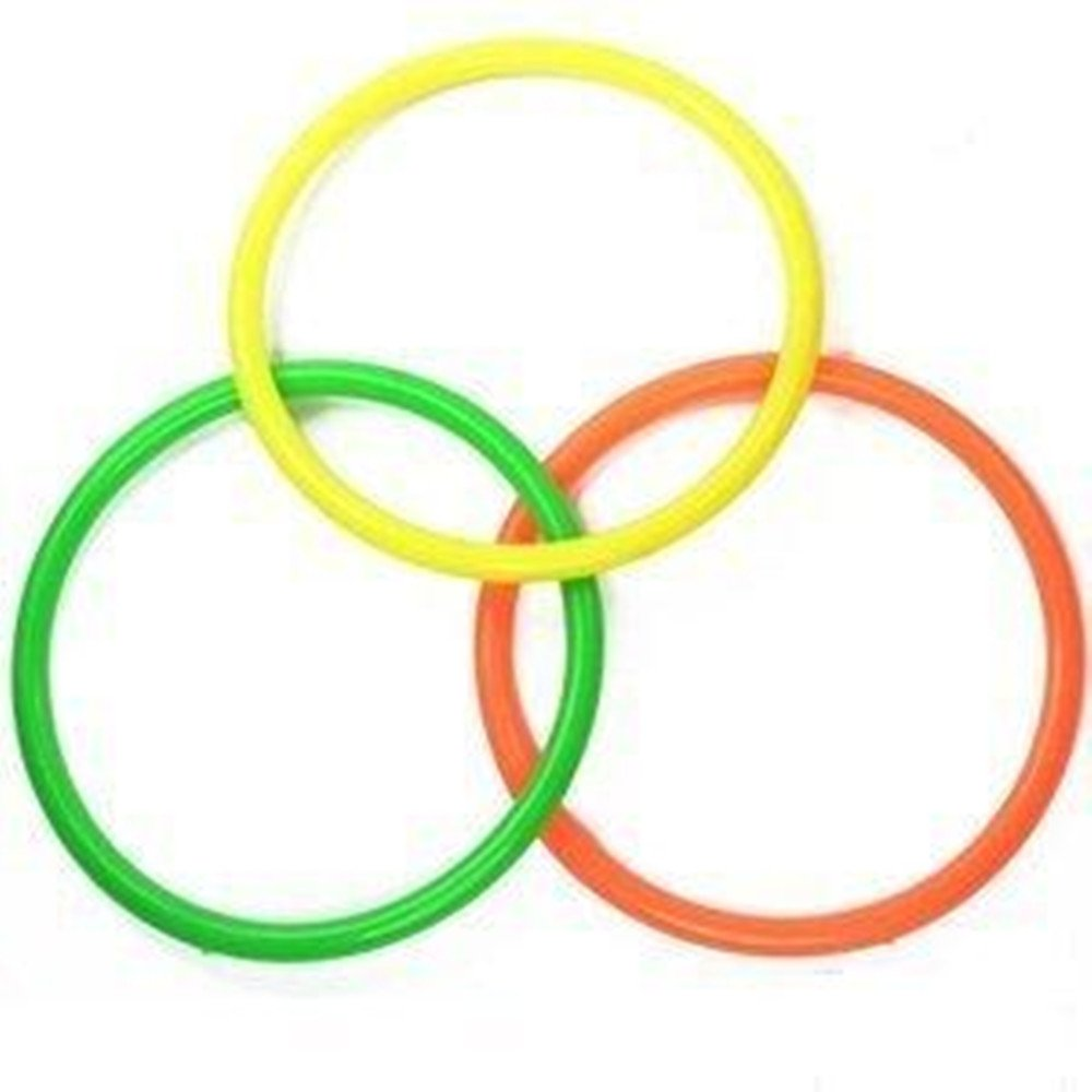 goodxy 24Pcs Plastic Toss Rings for Speed and Agility Practice Games 3 Color Mixed