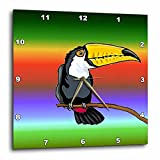 Cheap 3dRose dpp_63092_3 Toucan Bird with Tropical Background Wall Clock, 15 by 15-Inch
