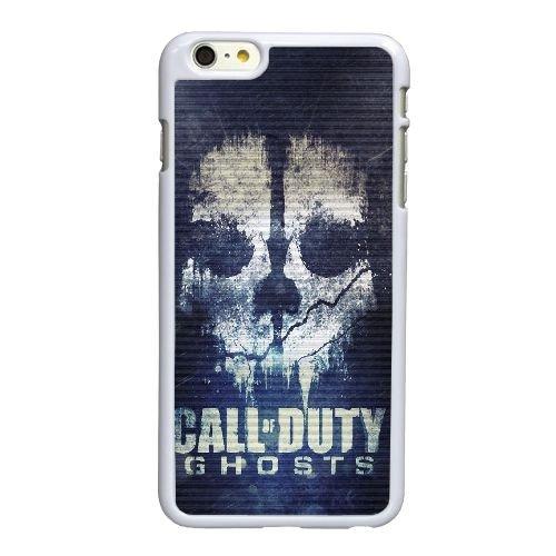 Fantômes K5V91 Cod crâne F4E6OG coque iPhone 6 Plus de 5,5 pouces cas de couverture de téléphone portable coque blanche IE7HDL9JY
