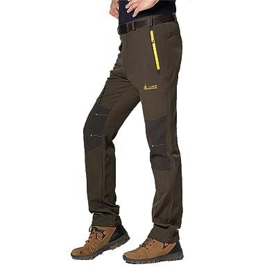 df7d70397 Hibote Women's Men's Waterproof Windproof Outdoor Sports Pants Climbing  Pants Soft Shell Fleece Thicken Breathable Trekking