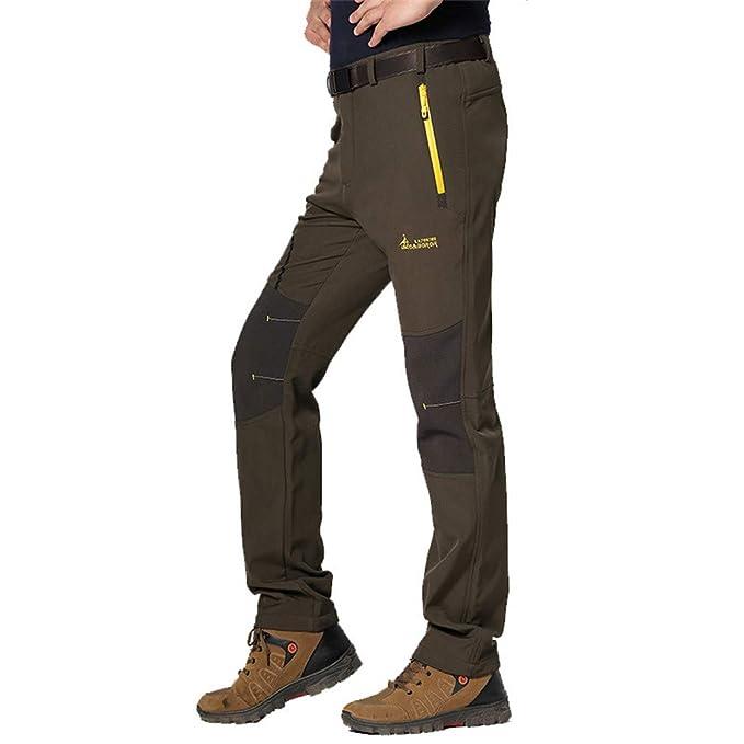 67094bd1ad Juqilu Coppia Pantaloni da Trekking Uomo/Donna Foderato Fleece ...