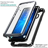 Samsung Galaxy S8 case, i-Blason [Ares] Full-Body Rugged Clear Bumper Case with Built-in Screen Protector for Samsung Galaxy S8 2017 Release (Black)