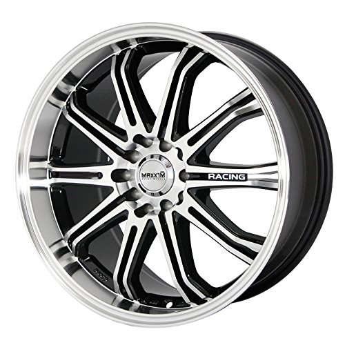 Maxxim Ferris Black Wheel with Machined Face - 16x6 5 Alloy Spoke