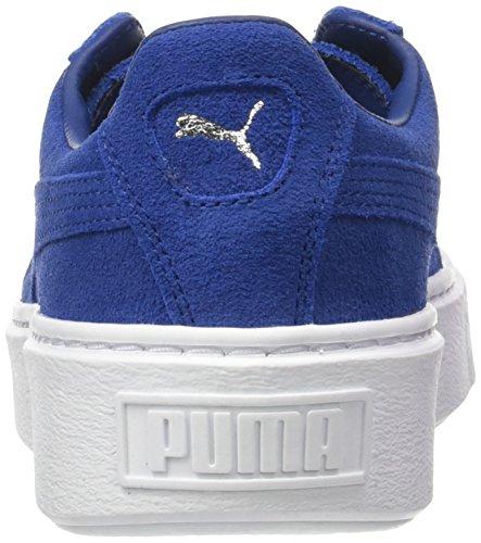 puma Platform peacoat White Puma Femme Suede Basses Sneakers Bleu peacoat a6xxH8q