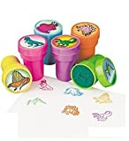 Fun Express Set of 24 Assorted Colorful Dinosaur Stampers - Arts and Crafts Birthday Party Activity