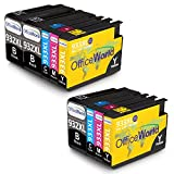 OfficeWorld Replacement for HP 932XL 933XL Ink Cartridges 932 933 High Capacity Compatible with HP Officejet 6700 6600 7612 7110 7610 6100 (3 Black, 2 Cyan, 2 Magenta, 2 Yellow)
