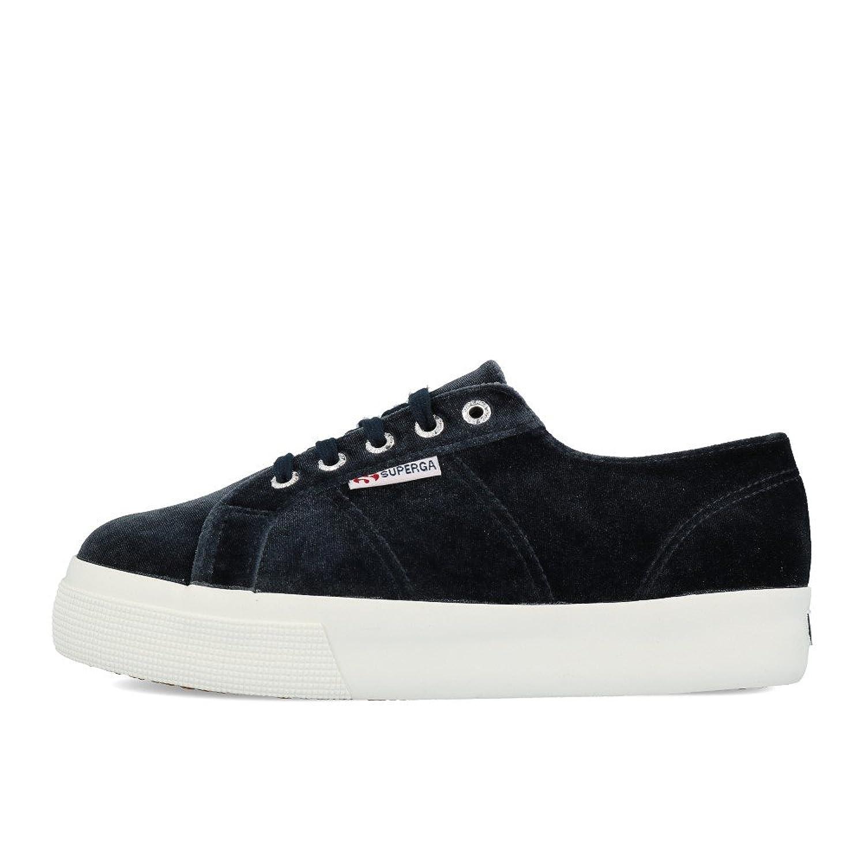 Superga 2790 Velvetpolyw Womens Shoes 38 EU Black Bf91ZViYIL