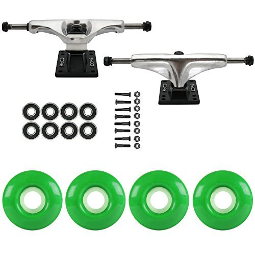 苦味感じ破壊するスケートボードパッケージCoreシルバー5.0 Trucks 52 MmケリーグリーンABEC 7 Bearings [並行輸入品]