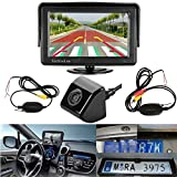 LeeKooLuu 170°Viewing 12V - 24V Wireless Rear View Backup Camera and Mirror Monitor Kit for Car Vehicle Truck Bus WaterProof