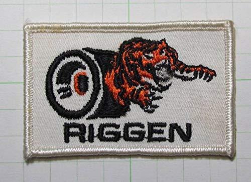 60's RIGGEN タイヤ ホットロッド ワッペン   B07SHMBLVQ
