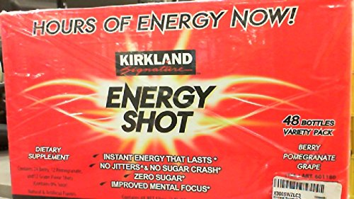 Kirkland Signature Energy Shot, Dietary Supplement: 48 Bottles Variety Pack of 2 Fl ()