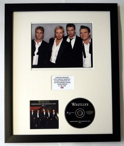 THE GREATEST HITS VOL 1 WESTLIFE//PHOTO /& CD DISPLAY LTD EDITION OF THE ALBUM UNBREAKABLE
