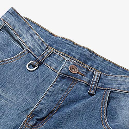 Alimao 2018 Men's Pants Casual Autumn Zipper Patchwork Denim Vintage Wash Hip Hop Trousers Jeans Pants by Alimao (Image #8)