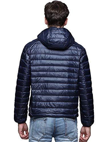 Maschile Con Betrothales Luce Tuta Lungo Tasche Laterali Ultra Peso Giacche Cappotto Blu Manicotto Cerniera Con Cappuccio Giù Packable Sportiva Giacca w1q6Ow