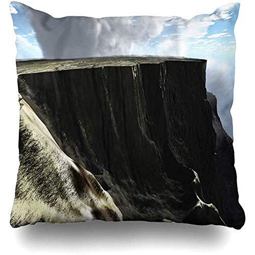 Staronov Throw Pillow Cover Desolate Blue Aerial Cliff Nature Parks Natural Red Rock Plateau Barren Canyon Design Home Decor Design Square Size 18x18 Inches Zippered Cushion Case