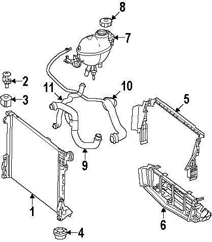 Mercedes-Benz 204 501 27 82, Radiator Coolant Hose
