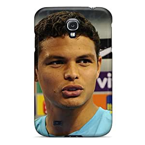 FTJNI5019WEAGC Case Cover, Fashionable Galaxy S4 Case - The Best Football Player Of Psg Thiago Silva Closeup