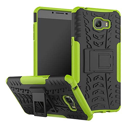 (GARITANE Compatible with Samsung Galaxy C9 Pro/C900 C9000 Case, Heavy Duty Dual Layer Shockproof Rugged Impact Armor Hybrid Kickstand Back Cover Case for Samsung Galaxy C9 Pro/C900 C9000 (Green))