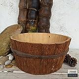 wine barrel pot - merr.Jarr Wood-Vase-Rustic DIY WOOD Apple Wine Barrel, Outdoor Garden Planter Flower Pot,Handmade