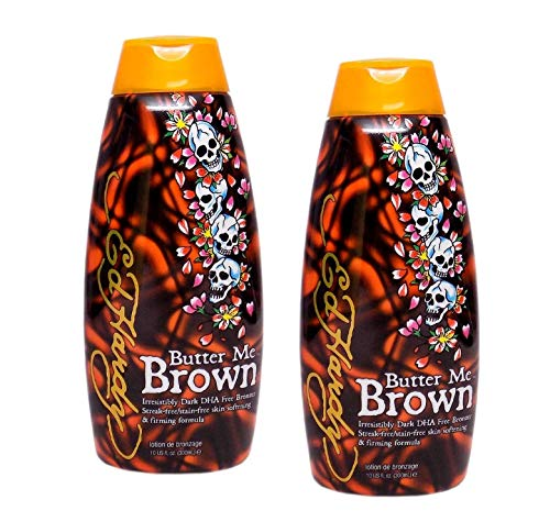 Self Butter Tanning - 2 Ed Hardy Butter Me Brown Tanning DHA & Streak Free Bronzing Cream Lotion 10 Oz