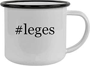 Rubber Docking #leges - Sturdy 12oz Hashtag Stainless Steel Camping Mug, Black