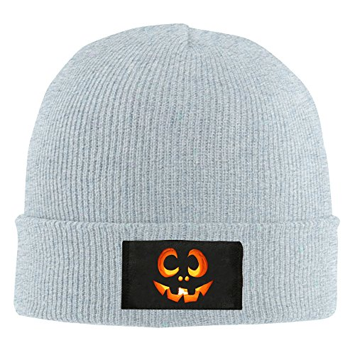 Mens And Womens Halloween Carved Pumpkin Winter Warm Knit Beanie Cap Hat