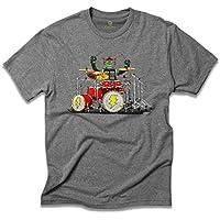 Camiseta Cool Tees Mescla Drummer Robot