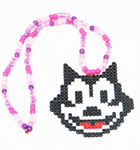 Felix the Cat Kandi Necklace, Rave Music Festivals, Edm, Plur, Edc, - Kandi Cat
