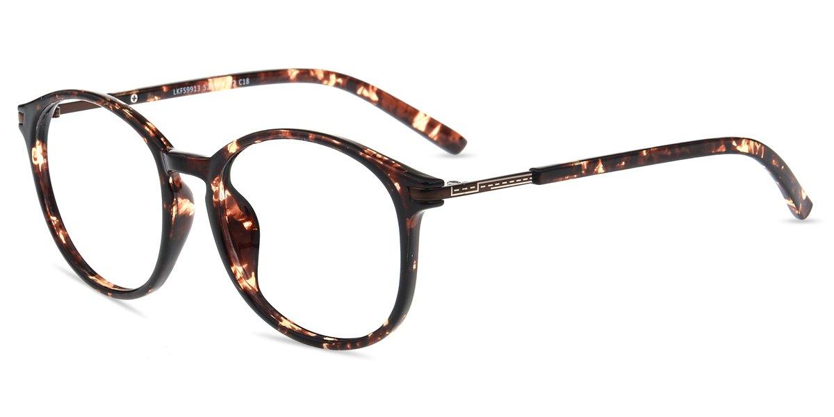 Firmoo New Wayfarer Non-prescription Glasses Frame Blue Light Blocking Lens Eyeglasses Tortoise Frame