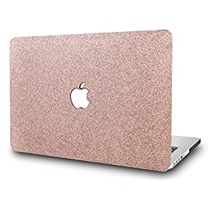 KEC MacBook Pro 13 Case 2017 & 2016 Plastic Hard Shell Cover A1706 / A1708 with/without Touch Bar (Rose Gold Sparkling)