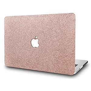 "KEC MacBook Pro 13"" Retina Case (2015 Old gen.) Plastic Hard Shell Cover A1502 / A1425 (Rose Gold Sparkling)"