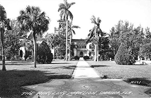 Sarasota Florida Ringling Mansion Real Photo Antique Postcard K431802
