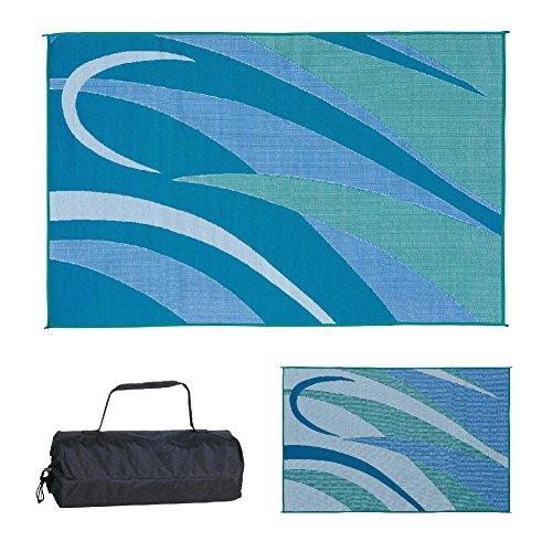 Stylish Camping GA3 Blue/Green 8-Feet x 12-Feet Graphic Mat