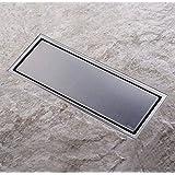 [Homelody] Caniveau de Douche Italienne Siphone du Sol Rectangulaire 300x110mm Invisible Clé d'Ouverture Offerte